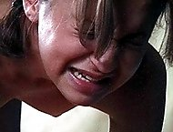 Strapped and brutally caned on all fours - teen girl in tears