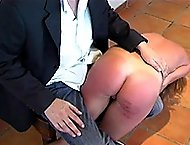 Shameful totally nude otk spanking for pretty sweetie - hot bouncing buttocks