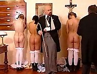 A group of young Czech students caned severly!