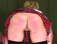 Lara is in todays caning video, with the headmasters leading the punishment.  She was found smoking in the girls bathroom, and her streak of rebellion