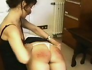 Icy Femdomme punishes her sexy students for causing trouble